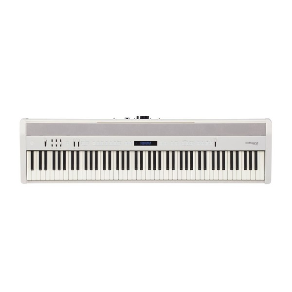 Roland FP 60 Digital Piano with Stand and Pedals, White