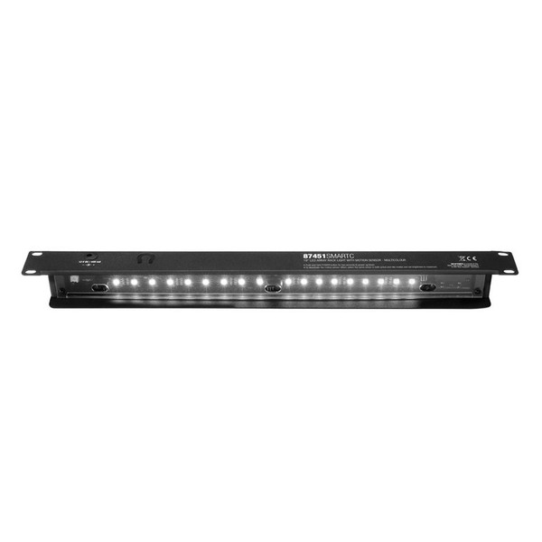 Adam Hall 19'' LED Sensor Rack Light, 1U, Multi-Coloured 8
