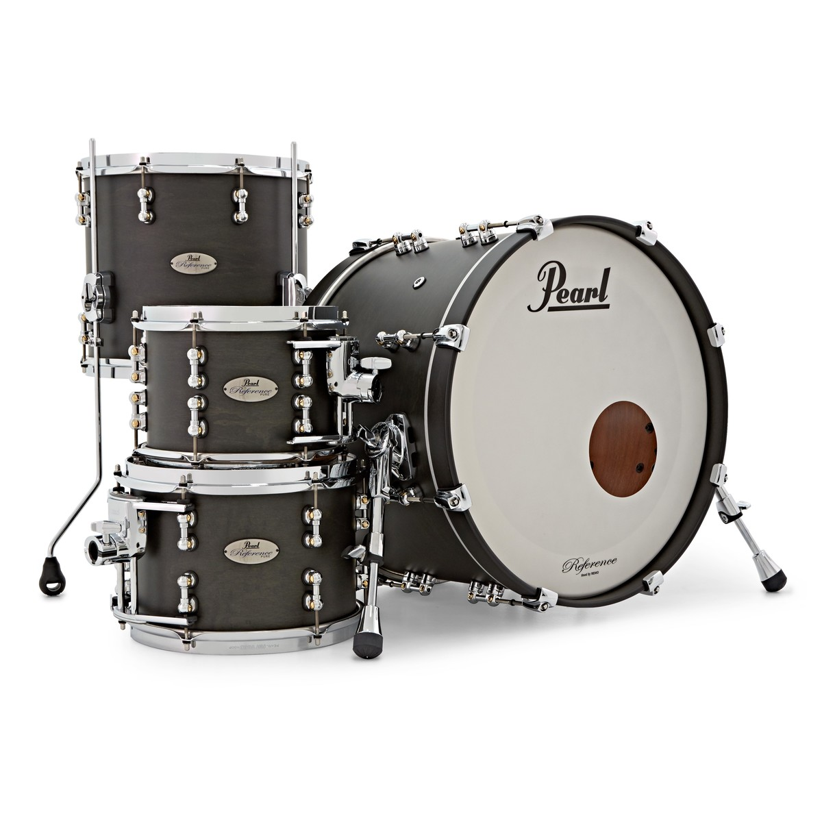 pearl reference pure 20 39 39 fusion shell pack matte black 501241 at gear4music. Black Bedroom Furniture Sets. Home Design Ideas