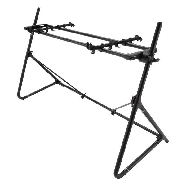 Sequenz Standard STD-L-ABK 88-Note Keyboard Stand, Black - Angled