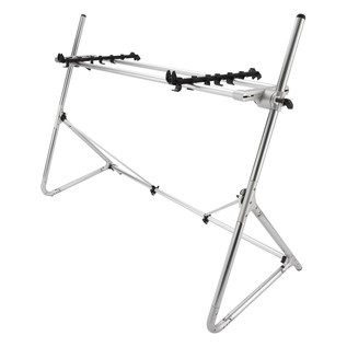 Sequenz Standard STD-L-SV 88-Note Keyboard Stand, Silver - Angled