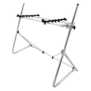 Sequenz Standard STD-M-SV 73/76-Note Keyboard Stand, Silver - Angled