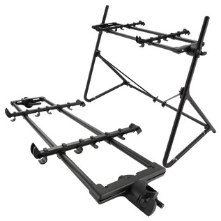 Sequenz Standard Double Tier Small Keyboard Stand, Black - Bundle