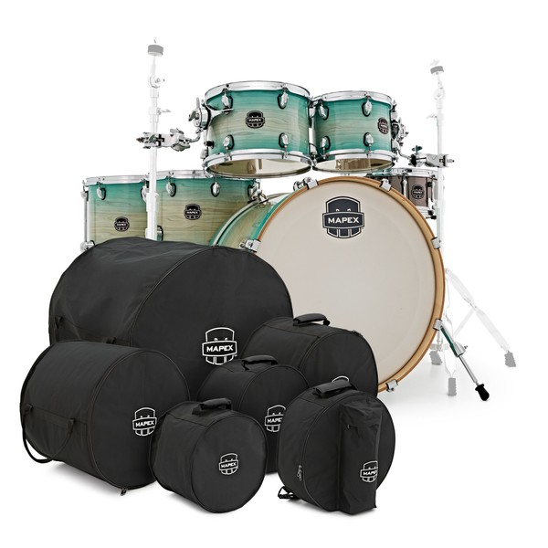 Mapex Armory LA Fusion 6pc Shell Pack w/ Bags, Ultra Marine