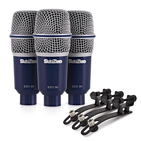 SubZero SZD-30 Dynamic Drums and Percussion Microphone Pack