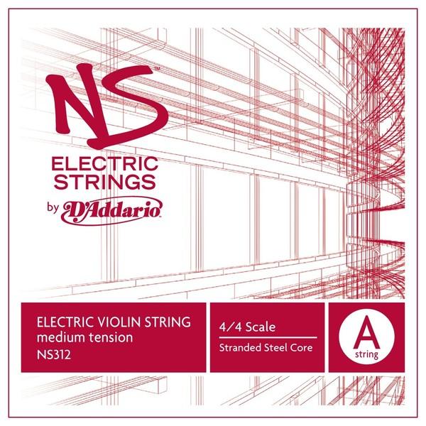 D'Addario NS Electric ViolinA String, 4/4 Size, Medium