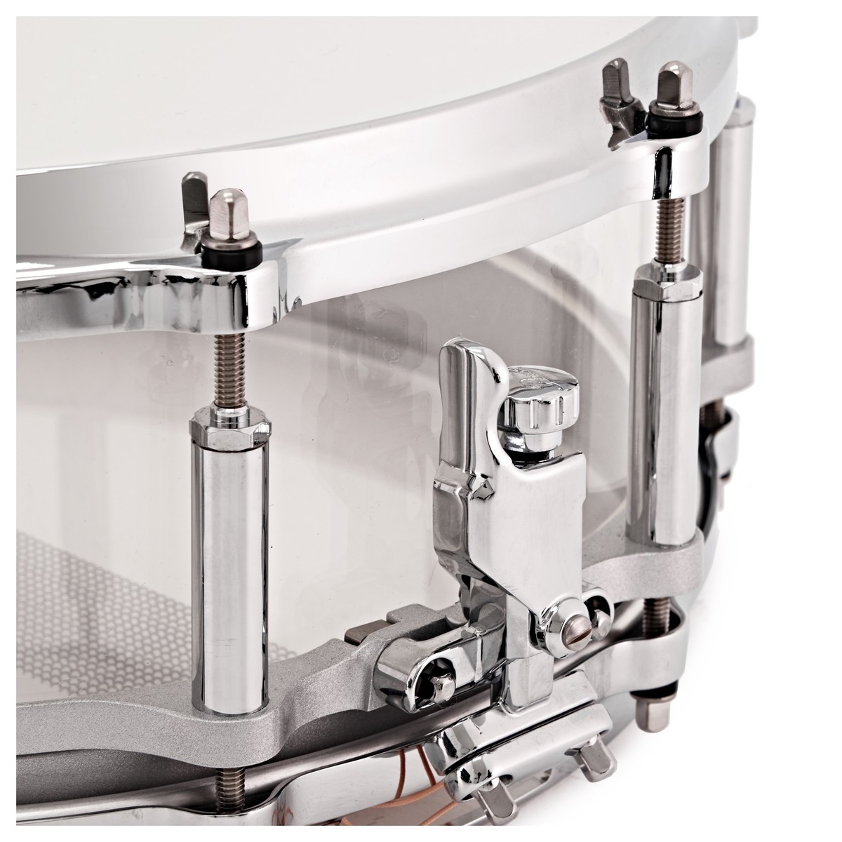 Pearl Crystal Beat 14\'\' x 5\'\' Acrylic Snare Drum w/ Case, Ultra ...