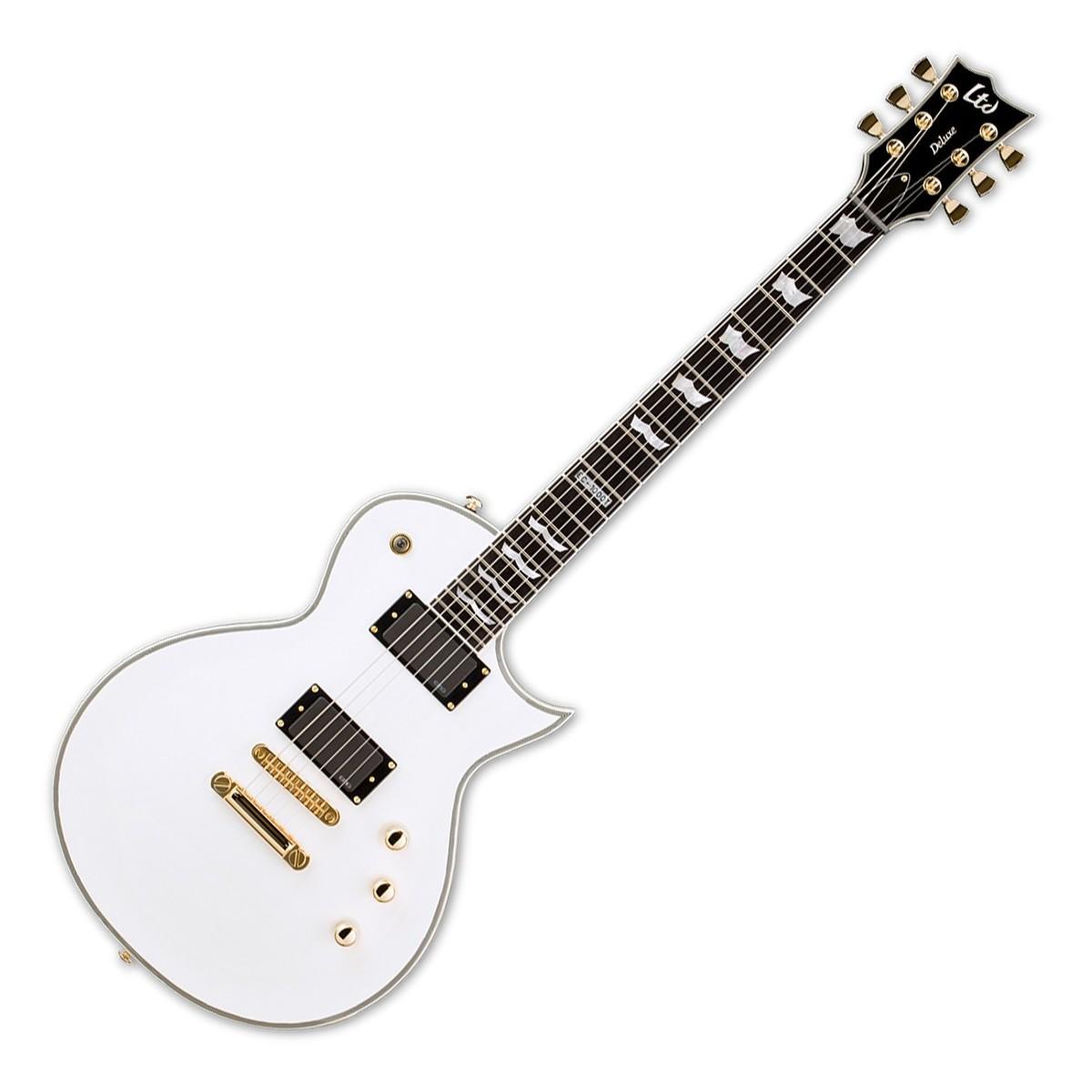 esp ltd ec ctm electric guitar  snow white
