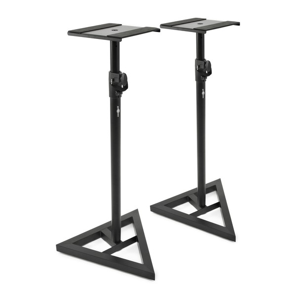 Studio Monitor Speaker Stands, Pair - Angled