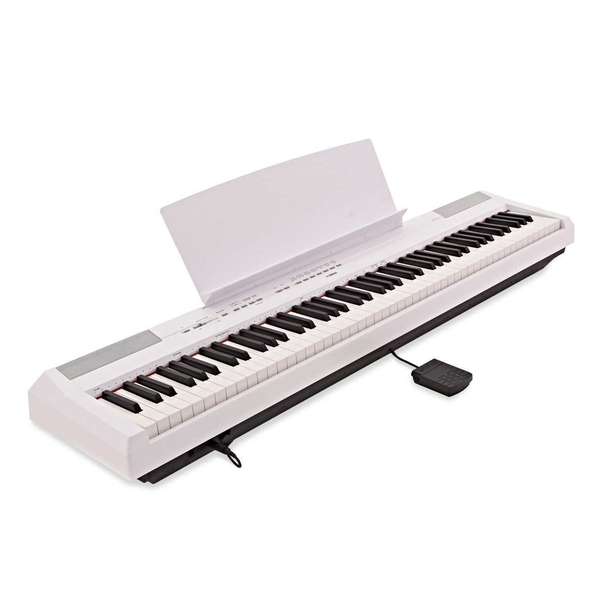 Yamaha p115 digital piano white box opened at for White yamaha piano
