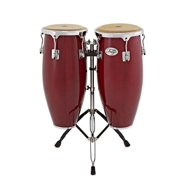 Natal Natural Wood Congas 10'' & 11'' Red Gloss