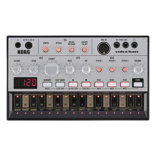 Korg Volca Bass Analog Bass Machine - Top