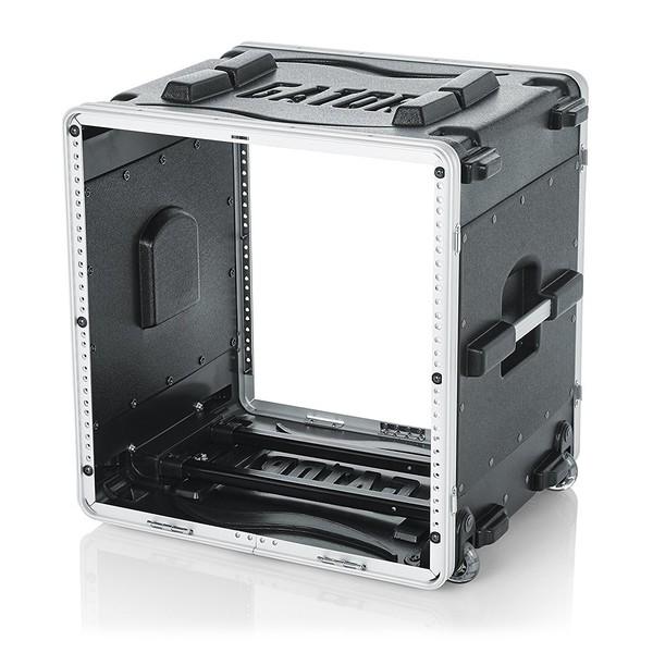 Gator GRR-10L Lockable Moulded Rolling Rack Case, 10U 3