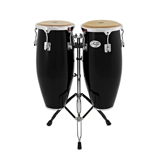 Natal Natural Wood Congas 10'' & 11'' Black Gloss