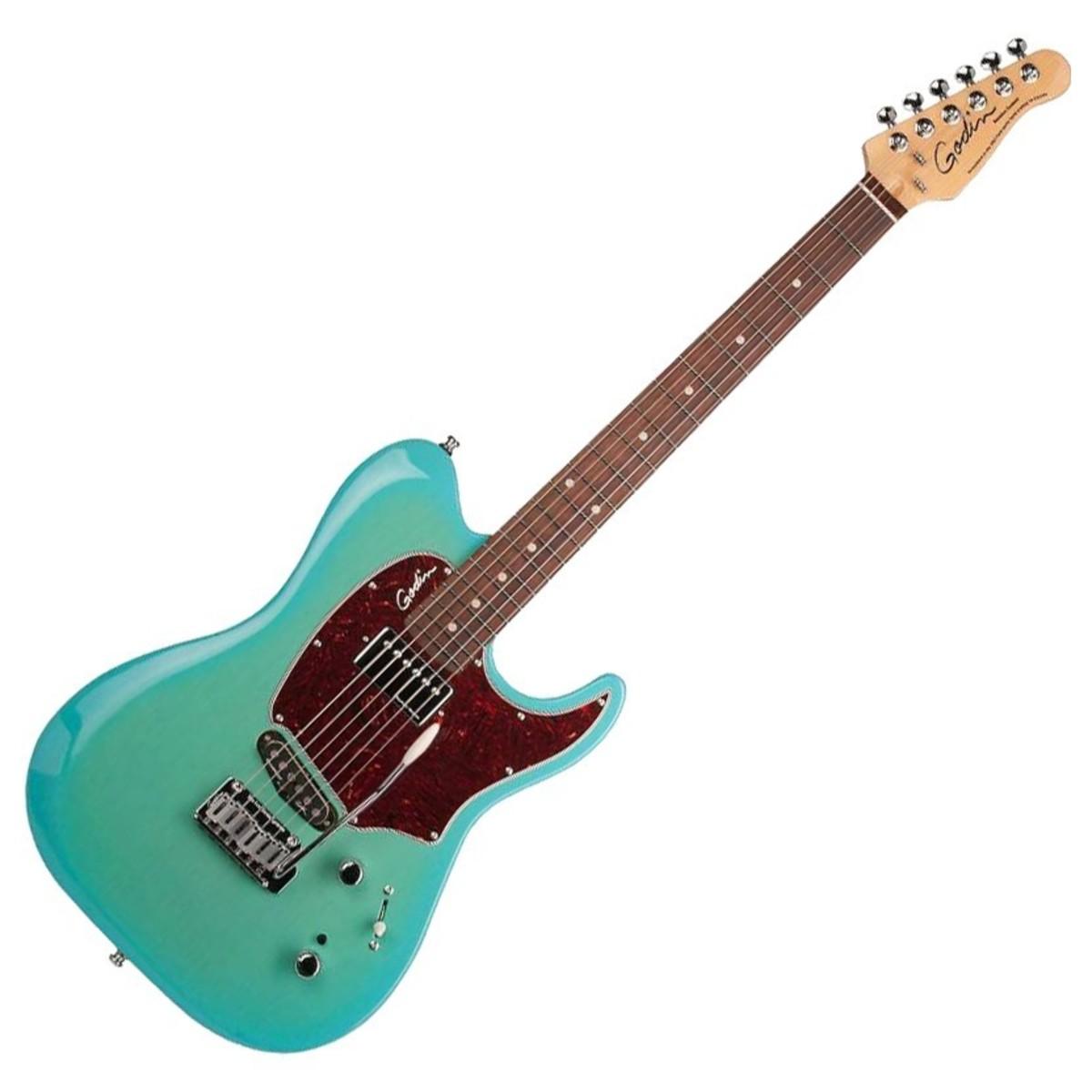 godin session custom 59 rw limited coral blue at gear4music. Black Bedroom Furniture Sets. Home Design Ideas