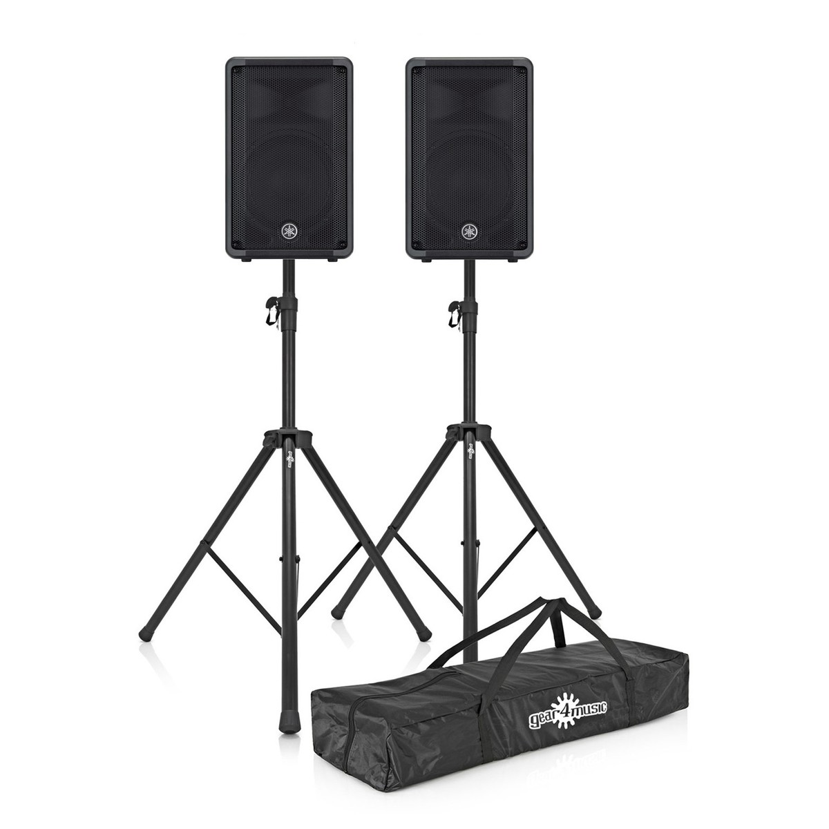 Yamaha CBR10 10'' Passive PA Speaker, Pair With Stands And