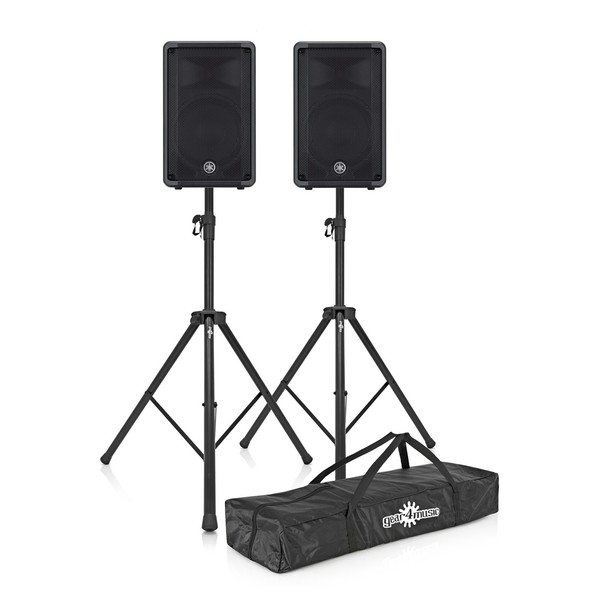 Yamaha CBR10 10'' Passive PA Speaker - Pair with Stands and Bag 1