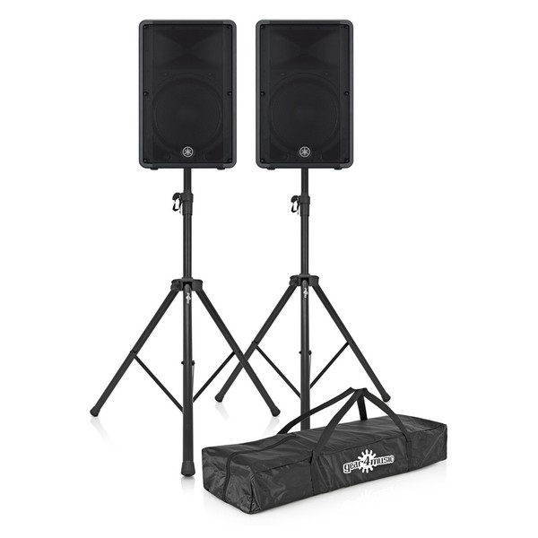 Yamaha CBR15 15'' Passive PA Speaker - Pair with Stands and Bag 1