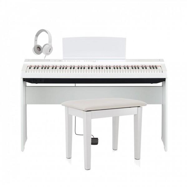 Yamaha P125 Digital Piano Package, White