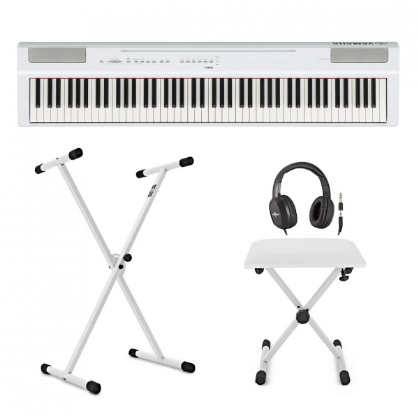 Yamaha P125 Digital Piano X Frame Package, White