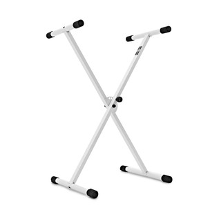Gear4music X Frame Keyboard Stand, White