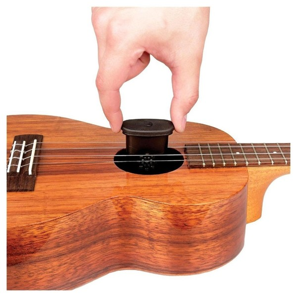 D'Addario Humidifier In Soundhole of Ukulele