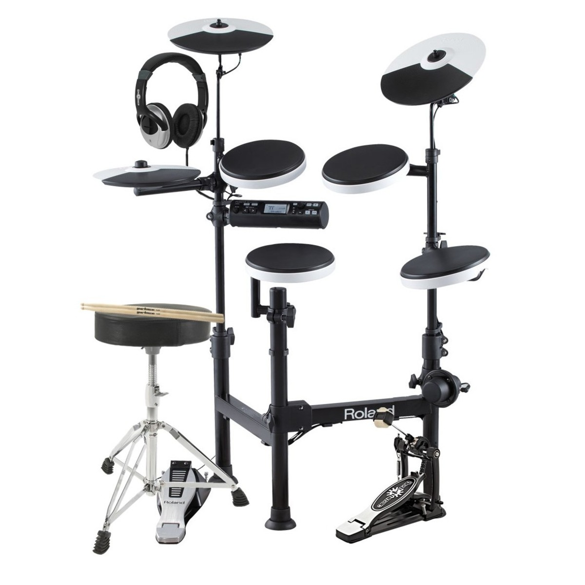 roland td 4kp v drums portable electronic drum kit with accessories at gear4music. Black Bedroom Furniture Sets. Home Design Ideas