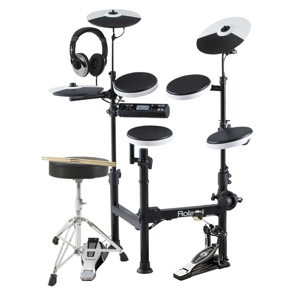 Roland TD-4KP V-Drums Portable Electronic Drum Kit with Accessories