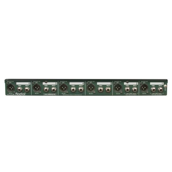 Radial JD6 Six-Channel Rackmount DI Unit 3