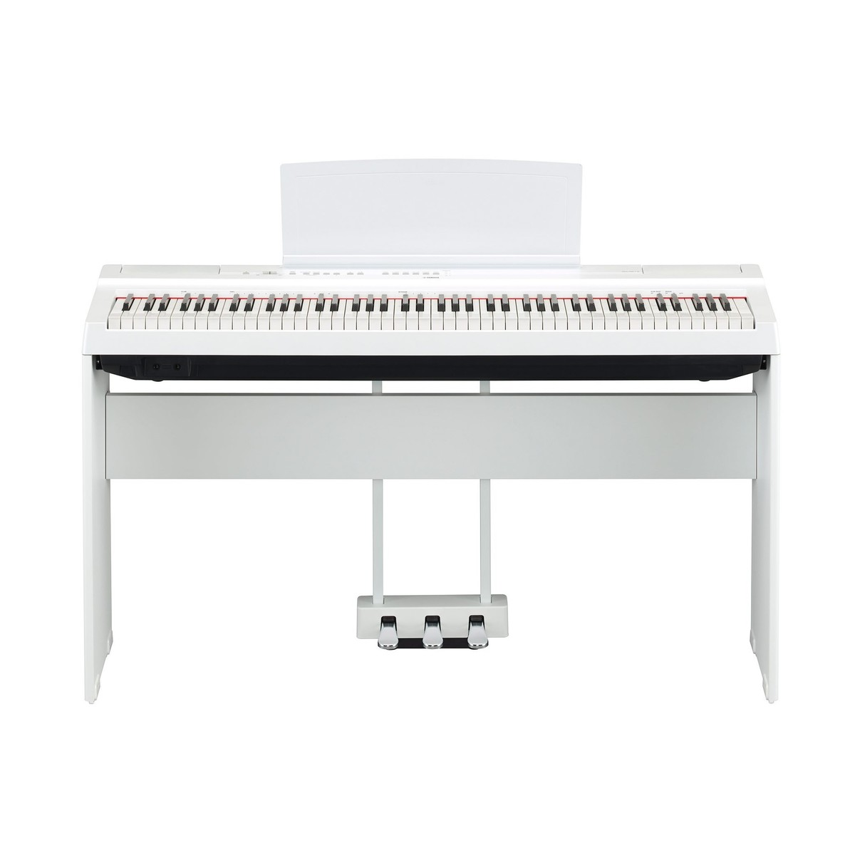yamaha p125 digital piano pedal package white at gear4music. Black Bedroom Furniture Sets. Home Design Ideas