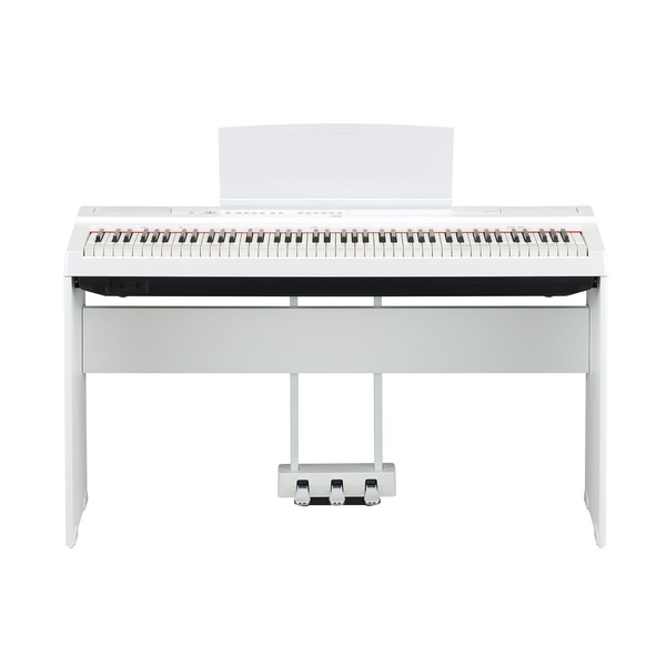 Yamaha P125 Digital Piano Pedal Package, White