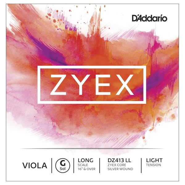 D'Addario Zyex Viola G String, Long Scale, Light