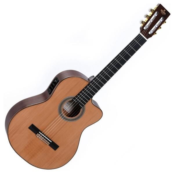 Sigma CMC-6E+ Electro Classical Guitar, Natural Front View