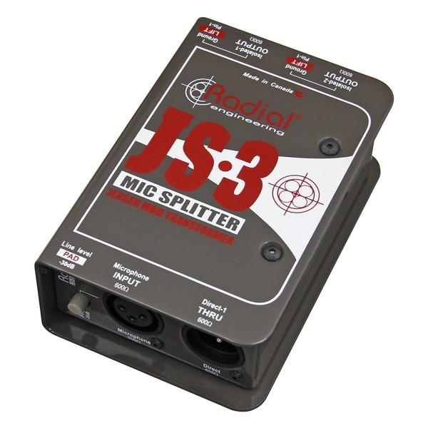 Radial JS3 Passive Microphone Splitter 1