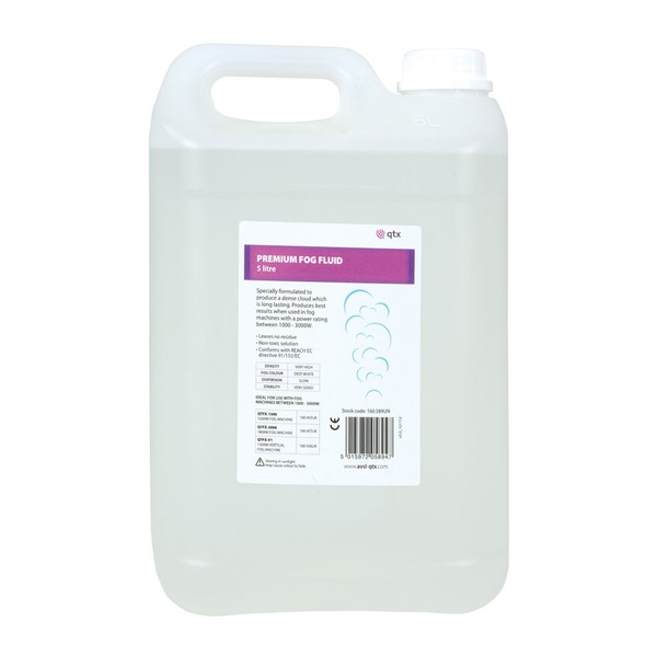 QTX Premium Fog Fluid, 5 Litres