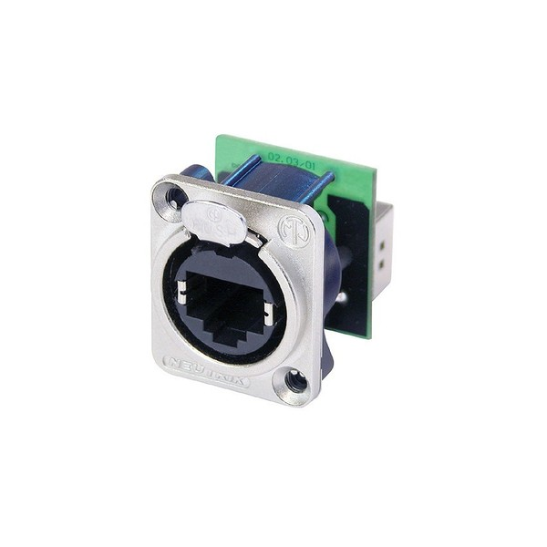Neutrik NE8FDP RJ45 Feedthrough Receptacle, D-Shape Flange 1