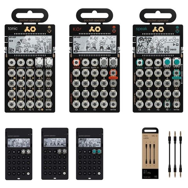 Teenage Engineering PO-30 Metal Series Super Set - Bundle