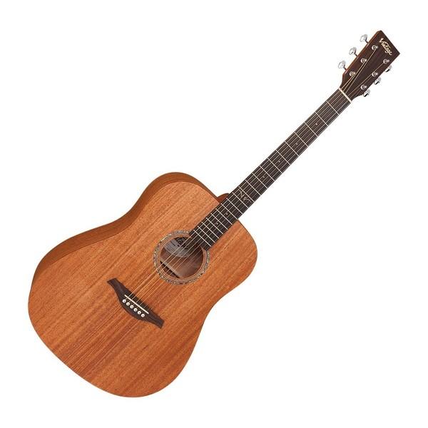Vintage V501 Dreadnought Acoustic, Satin Mahogany