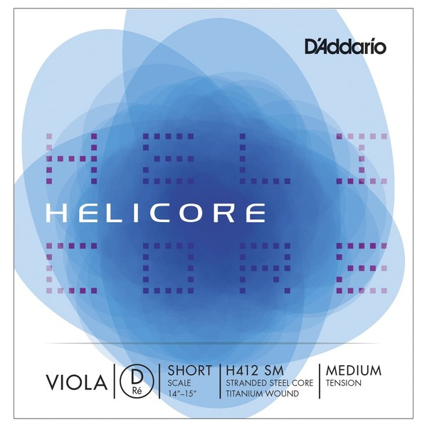 D'Addario Helicore Viola D String, Short Scale, Medium