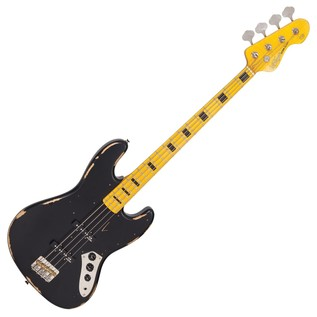 Vintage VJ74 Icon Bass MN, Distressed Black
