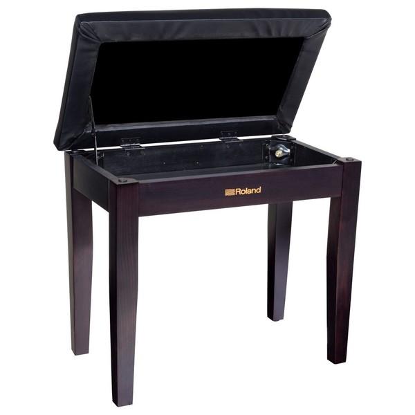 Roland RPB-100RW Piano Bench, Rosewood Open