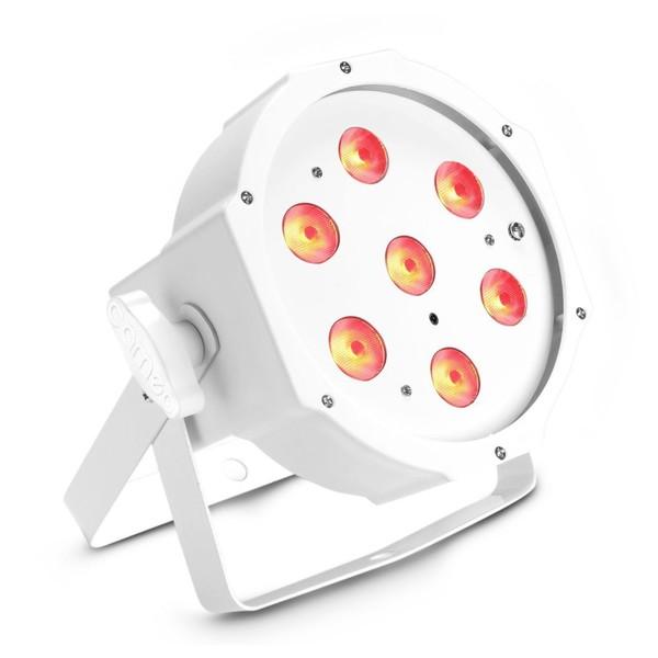 Cameo 7 x 4W Flat RGBW LED Par Light IR, White, Front