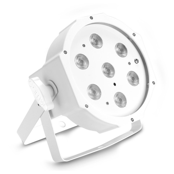 Cameo 7 x 4W Flat TW LED Par Light IR, White, Front