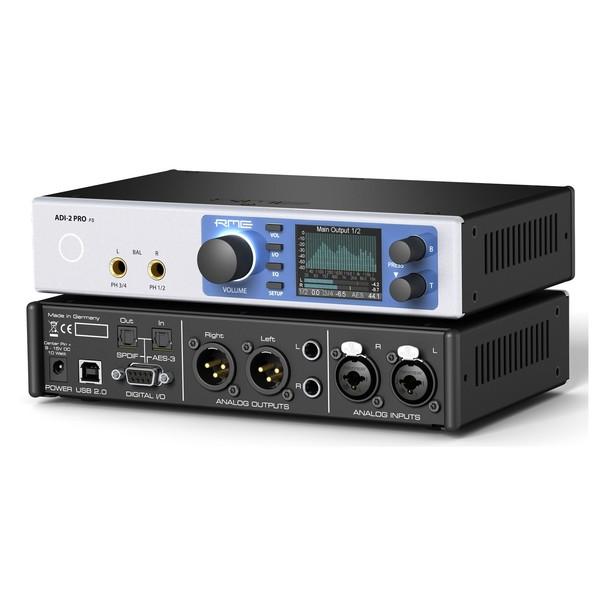 RME ADI-2 Pro FS USB Audio Interface - Front & Back