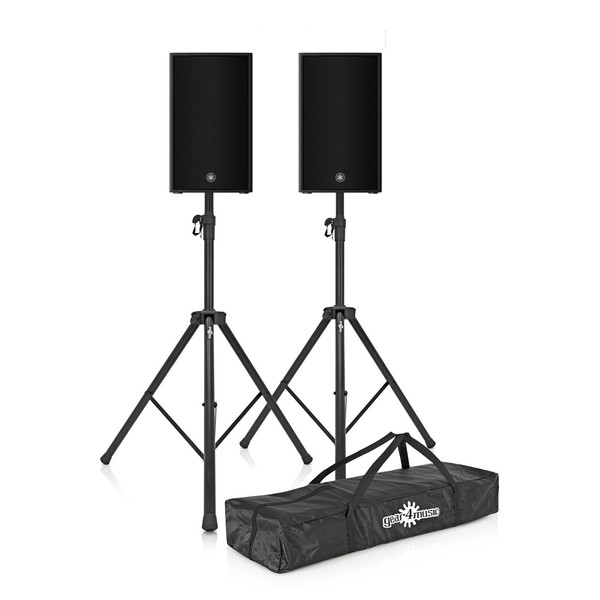 Yamaha DZR10 10'' Active PA Speaker Pair with Stands