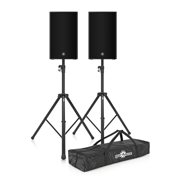 Yamaha DZR12-D 12'' Active PA Speaker Pair with Stands