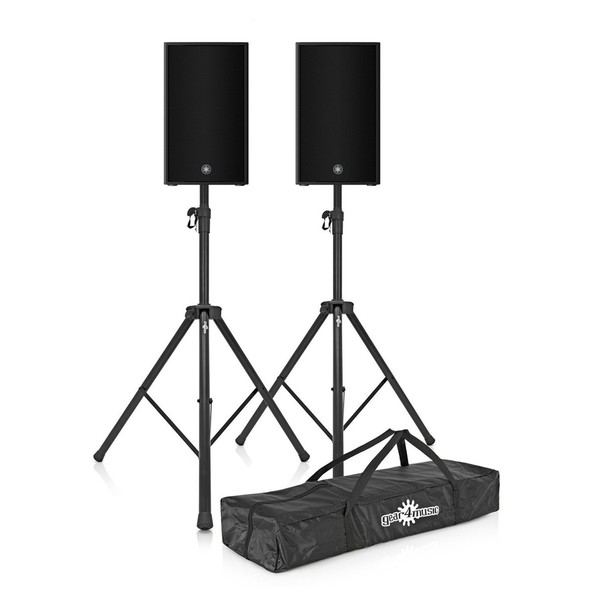 Yamaha DZR10-D 10'' Active PA Speaker Pair with Stands