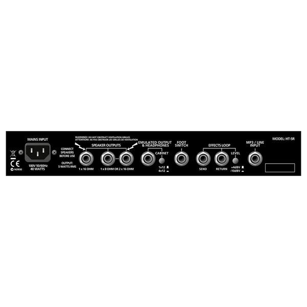 Blackstar HT-5R Combo Panel Back