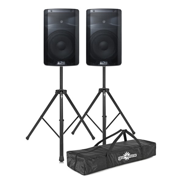 Alto TX210 300 Watt Active Speakers With Stands, Pair - Main