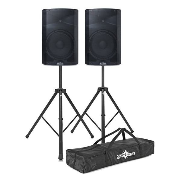 Alto TX212 600 Watt Active Speakers With Stands, Pair - Main